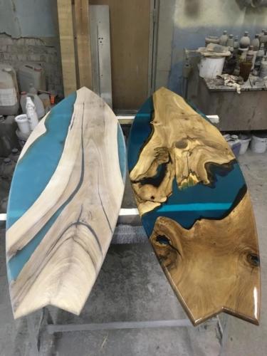 Стол из слэба Серфинг